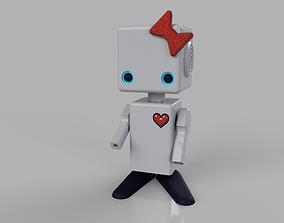 cute robot scifi 3D print model