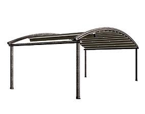 3D model Motorized Pergola 4 rusty iron