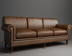 Rolled Arm Sofa 3D