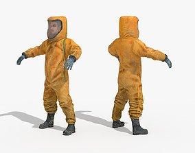 Hazmat Suit 3D model low-poly