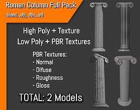 Roman Column Full Pack - Coluna Romana 3D