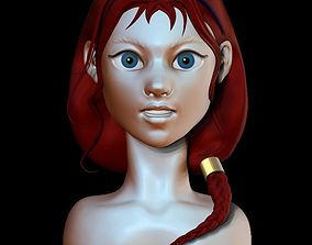 Girl with a braid 3D