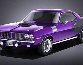 Plymouth Hemi Cuda - Barracuda 1971 VRAY 3D