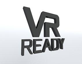 VR Ready Symbol v1 001 3D asset