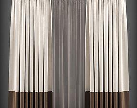 Curtain 3D model 150 VR / AR ready