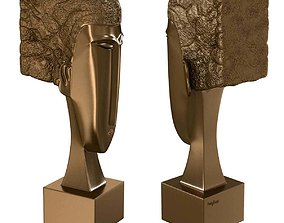 Bronze Statue Woman Head Amedeo Modigliani 3d model
