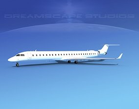 Bombardier CRJ1000 Unmarked 2 3D