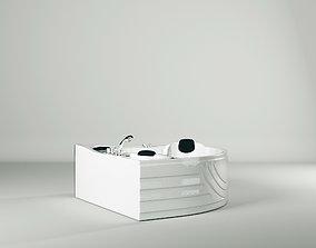 3D asset Famous brand sauna bath and steam room bath 1