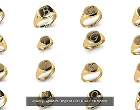 Jewelry Signature Rings COLLECTION 3D