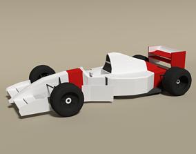3D model Low Poly McLaren MP4-8 Formula Car