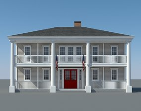 Colonial House 004 3D model
