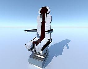 Aircraft Airplane Pilot Seat Chair V2 3D asset
