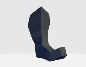 High Boot v2 3D asset
