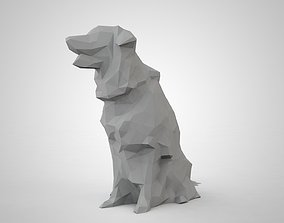 low poly model of a dog 3D asset