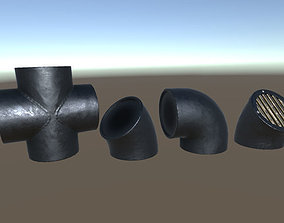 Modular Pipework System 3D model game-ready