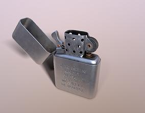 Zippo Lighter 3D asset rigged
