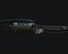 Toxic Spear-Axe 3D asset