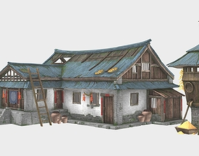 Old Chinese House 3D asset