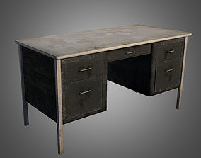 Old Office Desk 3D asset