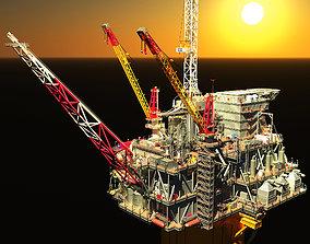 Perdido Oil Rig 3D asset