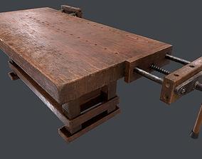 Carpenter Bench 3D asset