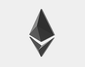3D asset Ethereum Crypto Currency