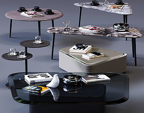 MolteniC Coffee Table Set 3D model