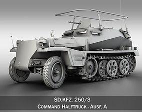 3D model SD KFZ 250 3 - Half-track Command Version