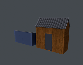 Shed Model 3D asset realtime