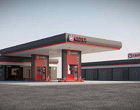 3D model Gas station scene