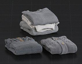 Set of Sweaters 01 3D model