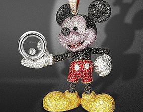 Happy-Mickey-Necklace-Pendants 3D printable model