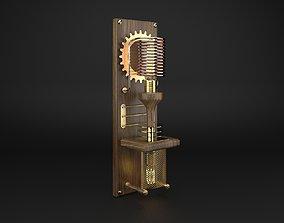 SteamPunk Wall Lamp 3D model