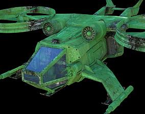 3D model Battle sci-fi hehlicopter