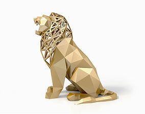 Low Poly Lion animal 3D model game-ready