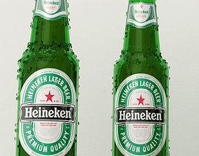 game-ready Realistic Heineken Beer Bottle 3D model for