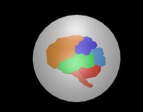 Low poly brain symbol 33 3D asset