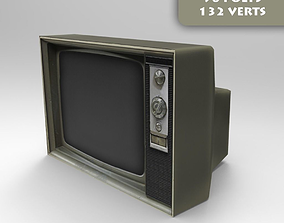 3D model low-poly Old Tv
