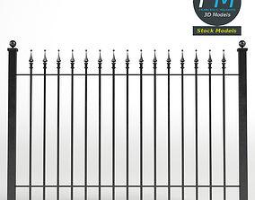 3D PBR Iron Fence