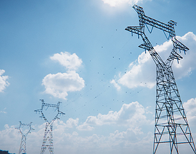3D asset realtime modular powerlines