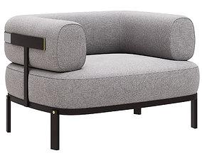 Baxter Belt armchair 3D model