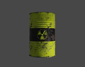 realtime low poly barrel model