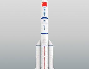 Long March 5 Launch Vehicle carrier rocket CZ-5B 3D 1