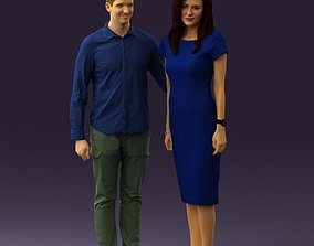 3D model Man hug woman one hand 0793