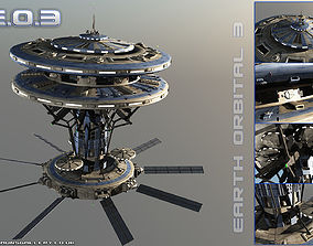 3D model Earth Orbital 3 Space Station