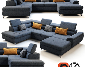Wersal Monk XL Sofa 3D