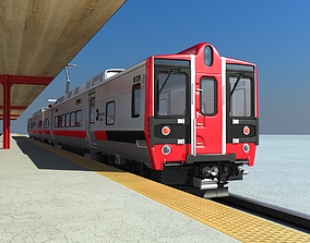 3D model Metro North Kawasaki M8 Passenger Train NYC