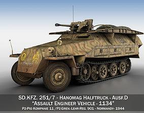 3D model SDKFZ 251 - Ausf D - Assault-Engineer Vehicle -