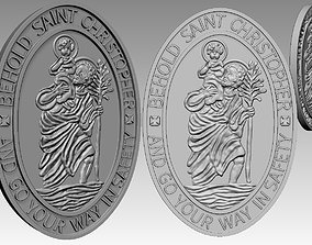 3D printable model saint christopher pendant