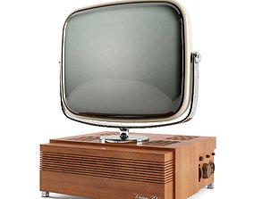 Vintage tv 3D asset